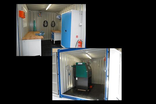 mobile Werkstatt, Werkstatteinrichtung